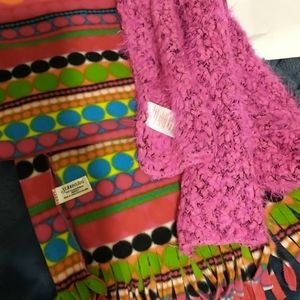 Two girls scarves